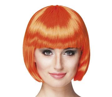 Oranje pruik bobline