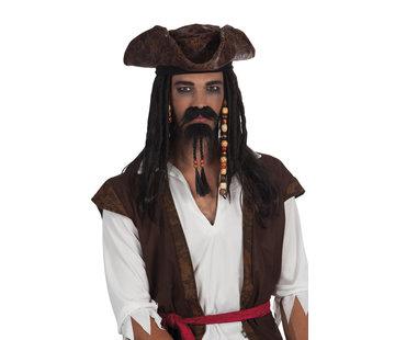 Plaksnor en baard Piraat Jack