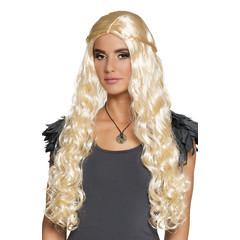 Lang Haar Krullen Pruik Blond