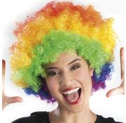Multicolor afro pruik