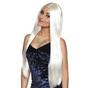 Lang Stijl Haar Witte Pruik