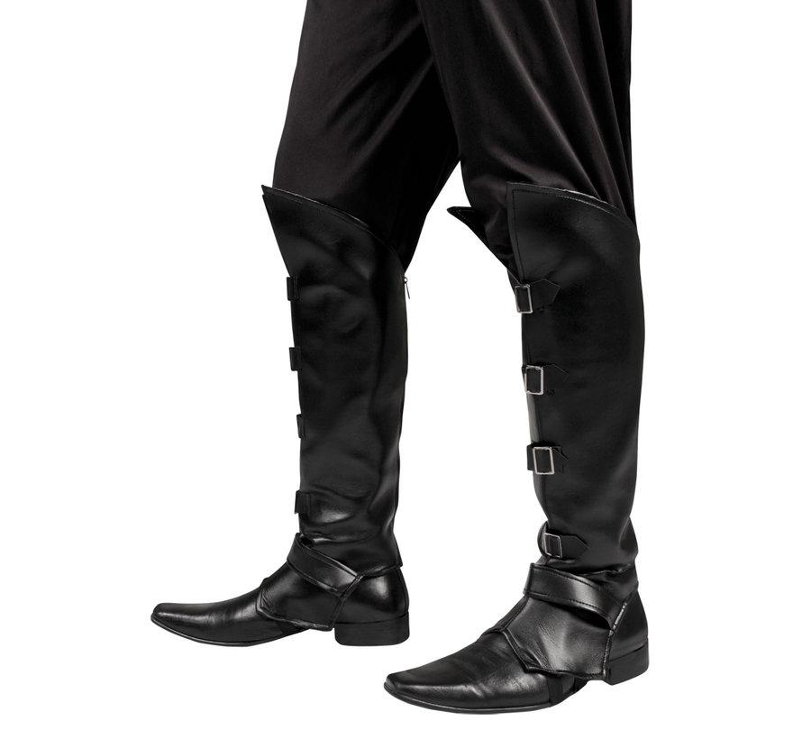 Beenkappen Zwart met gespen