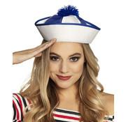 Blauw - wit matrozen hoedje