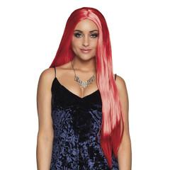 Lang Stijl Haar Rode Pruik