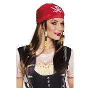 Piratenpruik dames met bandana