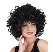 Pruik Zwart Krullen Candice