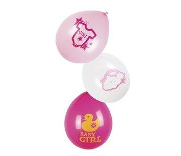 Geboorte ballonnen baby girl
