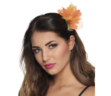 Oranje bloem haar accessoires