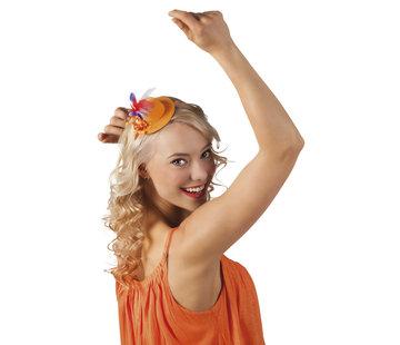 Oranje Mini hoedje diadeem