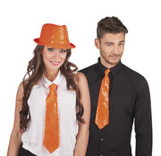 Oranje stropdas Koningsdag