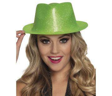 Neon groene glitter hoedje