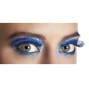Nepwimpers metallic blauw