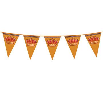 Plastic Koningsdag oranje vlaggenlijn