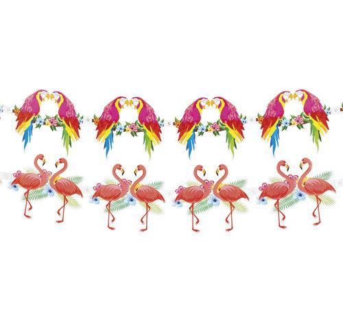 Papier slinger set Hibiscus vogels