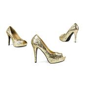 Schoenen Allure - goud met hoge hakken