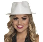 Wit glitter hoedje