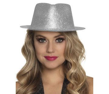 Zilver glitter hoedje
