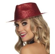 Rood glitter hoedje
