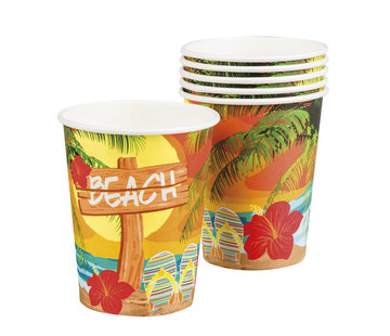 Hawaii beach party wegwerp bekers
