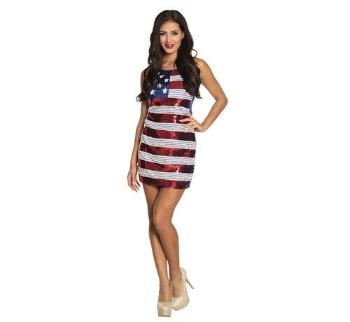 Glitter Amerikaans jurkje USA