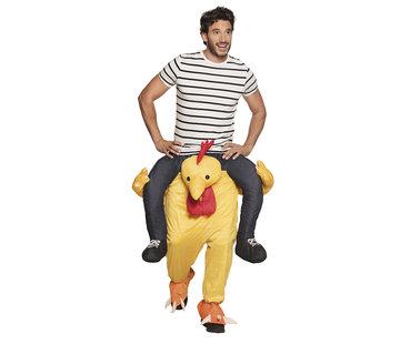 Draag mij kostuum funny Kip