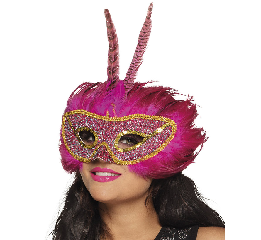 Masker pink queen Toppers