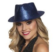 Blauw glitter hoedje