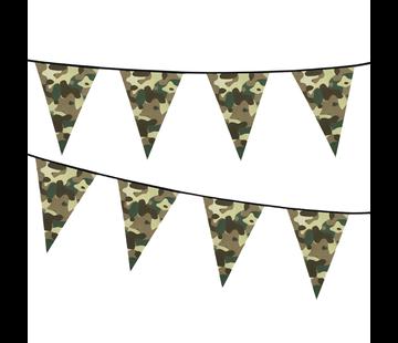 Kunstof vlaggenlijn Camouflage