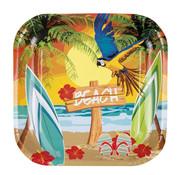Hawaii beach party wegwerp borden
