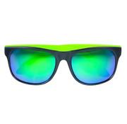 Neon groene zonnebril met spiegelglas