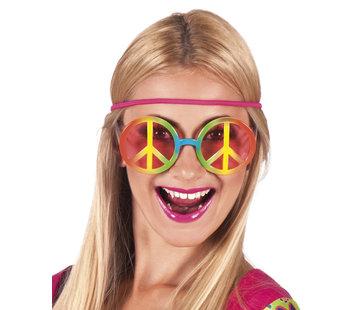 Grote gekleurde hippie bril