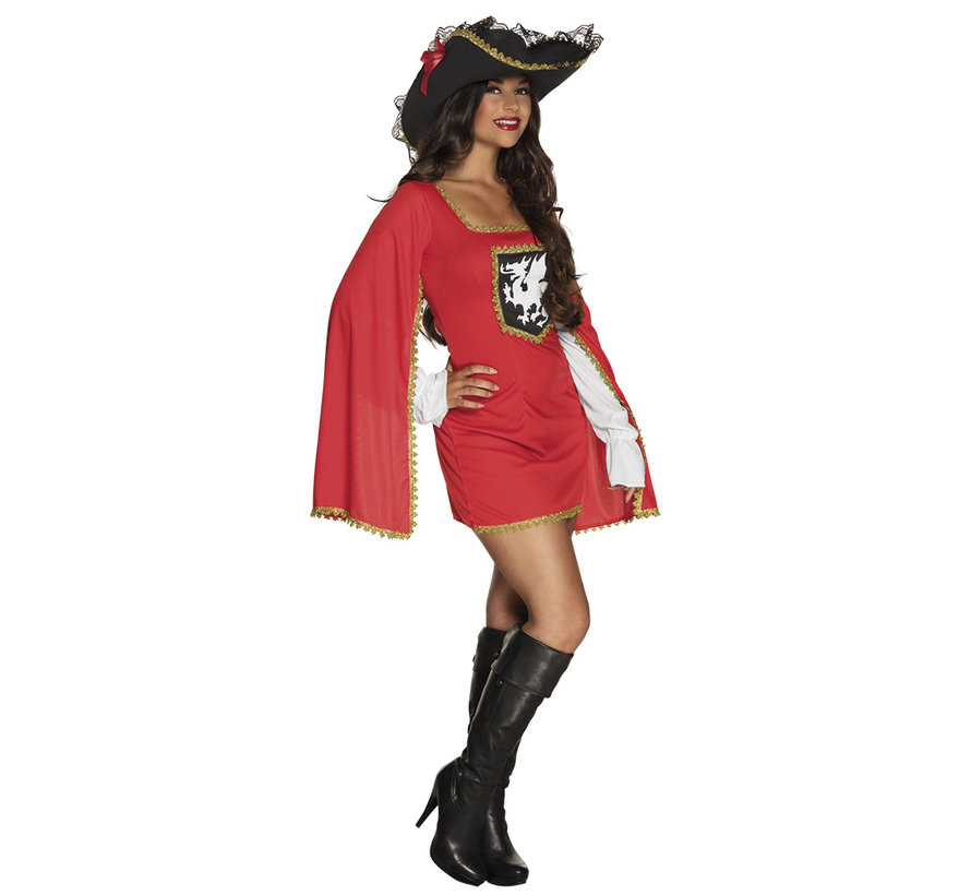 Sexy musketeer costume for carnival fancy dress party