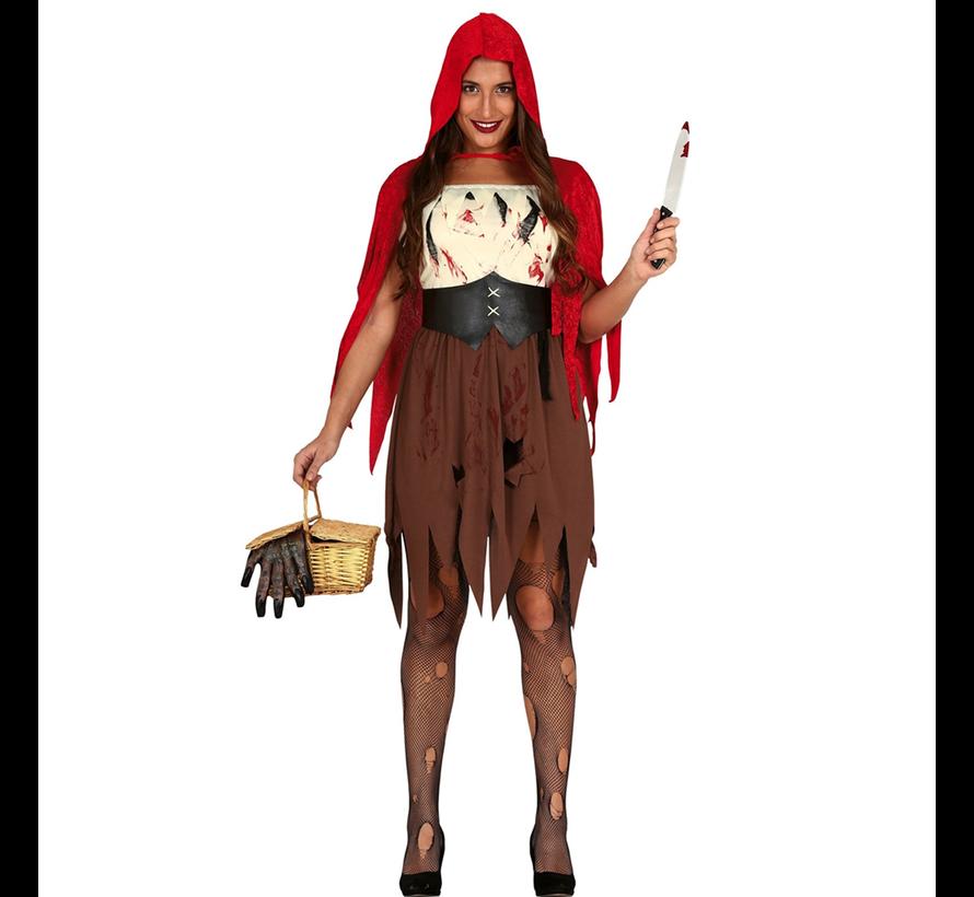 Horror roodkapje kostuum