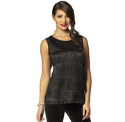 Zwarte flapper top