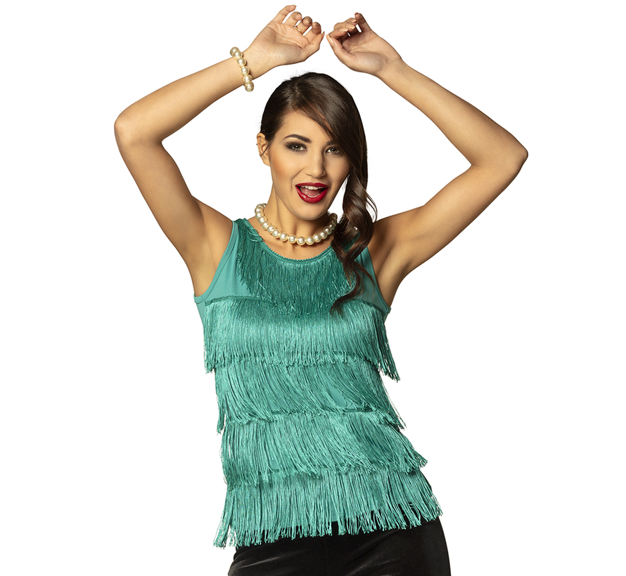 Jaren 20 Charleston shirt  turquoise