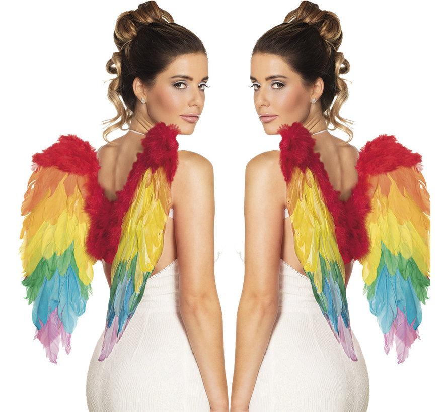 Engelen vleugels Regenboog klein