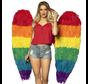 Grote engelen vleugels regenboog kleuren
