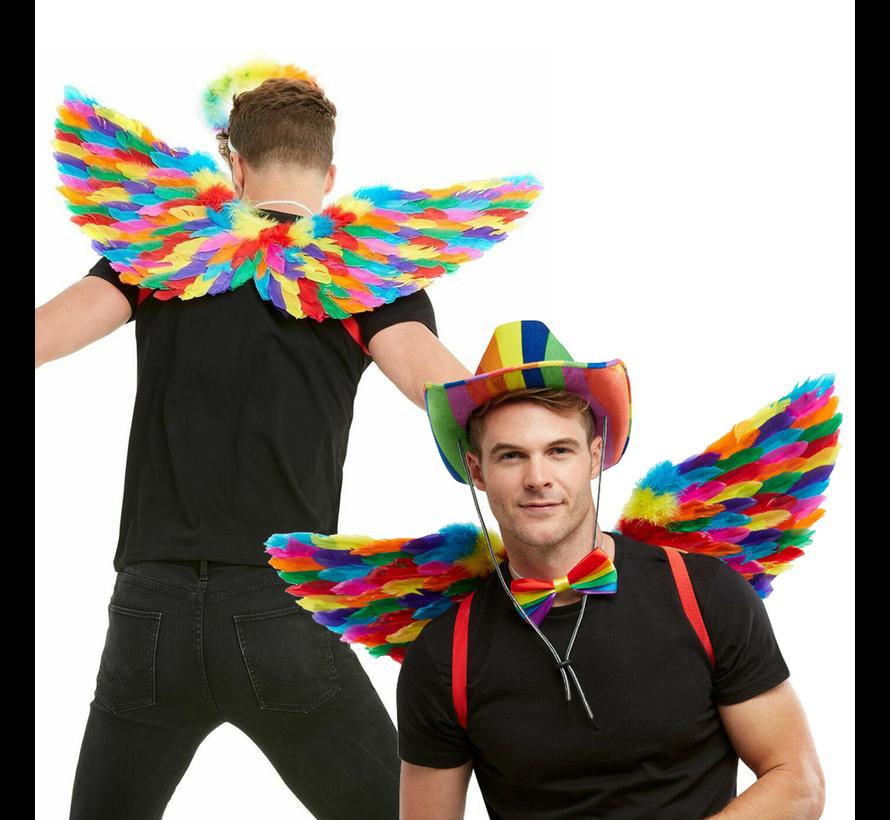 Engelen vleugels rainbow kleuren