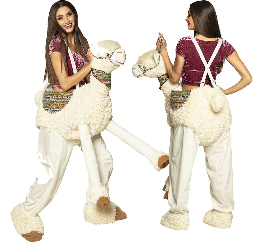 Instap lama kostuum  volwassenen