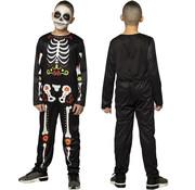 Carnaval skelet pak
