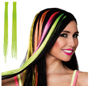 Neon groen  hair extension