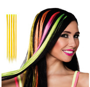 Hair extension geel
