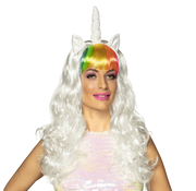 Unicorn pruik wit