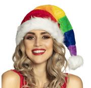 Regenboog Kerstmuts