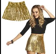 Pailletten rok goudkleurig