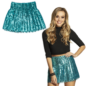 Pailletten rok turquoise