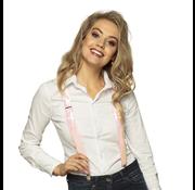 Roze bretels pailletten