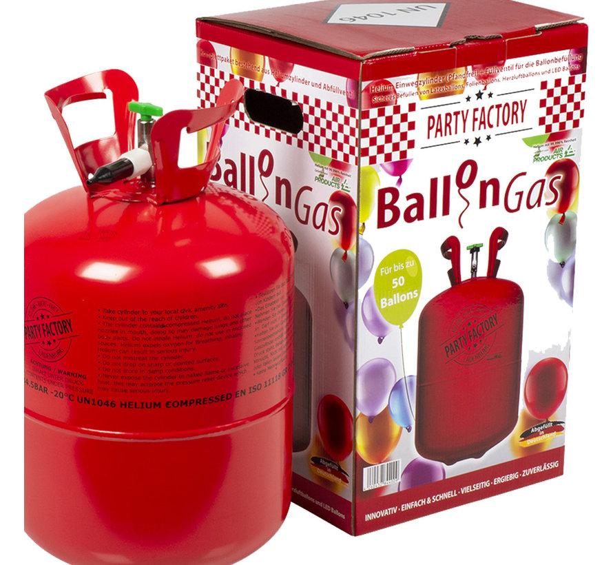 Wegwerp Helium tank