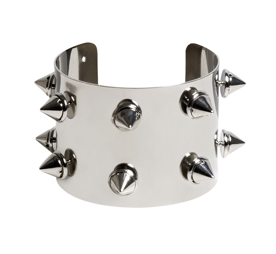 Armband met spikes wit