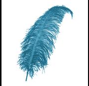 turquoise decoratie veren groot